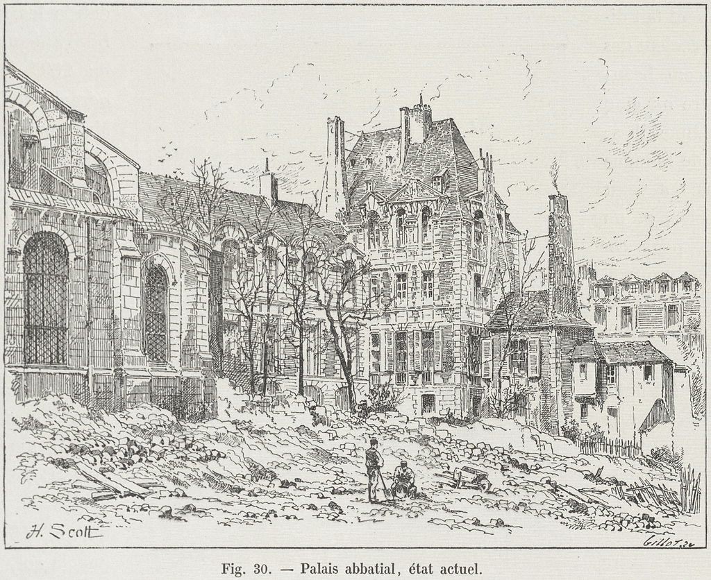 abbaye saint germain des pres palais abbatial
